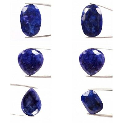 Natural Blue Sapphire Faceted Cut Color Dyed Loose Gemstones In Wholesale Price
