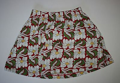 NEW Hanna Andersson Girls Floral Skirt size 110 or 4-6 year NWT Elastic Waist