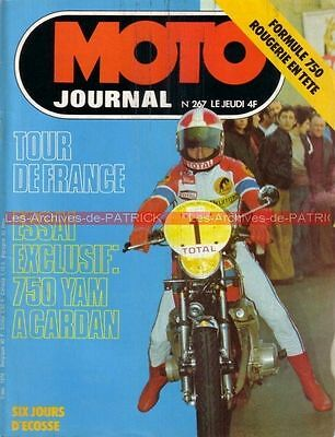 MOTO JOURNAL  267 YAMAHA XS 750 DOHC SUNBEAM S8 Hubert RIGAL Tour de France 1976