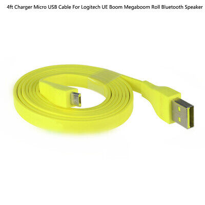 Charger Micro USB Cable For Logitech UE Boom Megaboom Roll Bluetooth Speaker MA