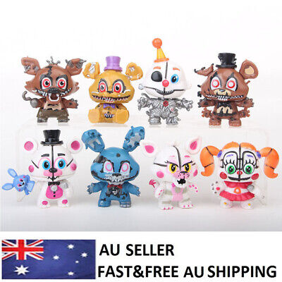 Five Nights At Freddy's Foxy FNAF Action Figure Doll Decor Toys Kids Gifts 8 PCS