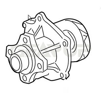 New Water Pump Olds Chevy Chevrolet Trailblazer Colorado Gmc Envoy