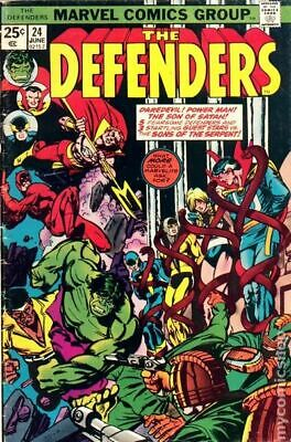 Defenders (1st Series) #24 1975 VG Stock Image Low Grade