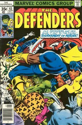 Defenders (1st Series) #63 1978 VG- 3.5 Stock Image Low Grade