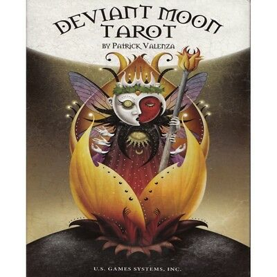 Deviant Moon Tarot Card Deck with Guidebook by Patrick Valenza - Brand New