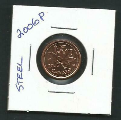 Canada - 1 Cent - 2006P - Magnetic - BU PL from set - Combined Shipping - NO TAX