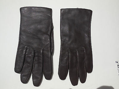 **Fownes Ladies Brown Leather Winter Gloves Acrylic Knit Lining Size Xl