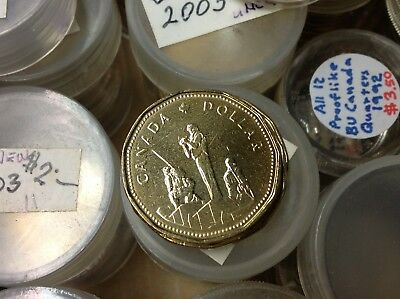 Brilliant Uncirculated 1995 Canada 1 Dollar From Mint Roll,Peacekeeping Monument