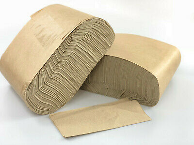 Case of 6000 Compostable Unbleached Recycled Kraft Napkin - 1 Ply