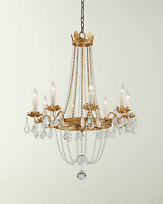 Visual Comfort Replica Paris Flea Market Chandelier Empire Venetian Crystal Gold