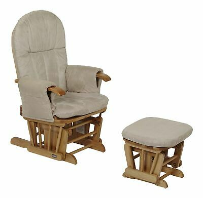 Tutti Bambini GC35 GLIDER CHAIR & STOOL NATURAL Child Nursery Furniture BN