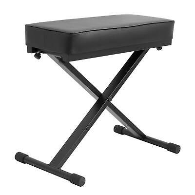 Keyboard Stool with Padded Seat - Portable Adjustable X Frame Piano Bench