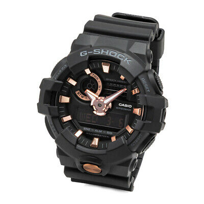 Casio G-Shock Analog-Digital GA710B-1A4 Men's Sports Watch (Black/ Rose Gold)