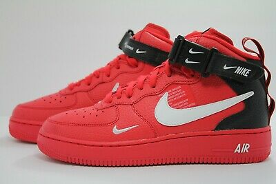 big sale d3267 c639f Air Force 1 Mid Lv8 (Gs) University Red  White-Black Av3803-