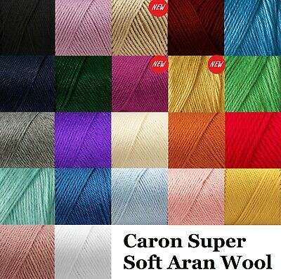 Caron Super Soft Aran Knitting Crochet Acrylic Wool Yarn 170g Ball 22 Shades