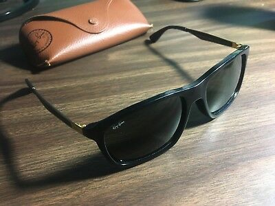 97cbd31726b Ray ban sunglasses Black Wayfarer Gold rb4228f 6227 71 58  18 140 3n