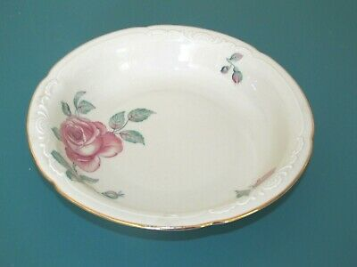 5 Vintage Royal Bayreuth Bavaria China soup bowls  rose pattern germany us zone