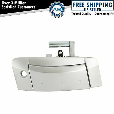 Door Handle Silver Outer Outside Exterior Driver Passenger Pair for Nissan 350Z