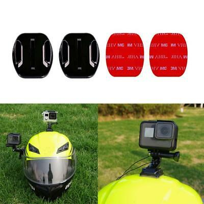 Helmet 3M Adhesive Pads Sticker Flat Mount Kit for GoPro HD HERO 5 4 3+ Cameras