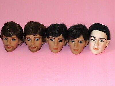 """Tonner - LOT of 5 Misc. 17-19"""" Male Fashion Doll HEADS - Repaint Artists Crafts"""
