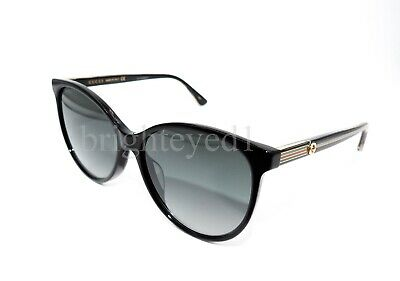 6be958d101aac AUTHENTIC GUCCI BLACK Cat Eye Sunglasses GG0377SK - 001  NEW ...