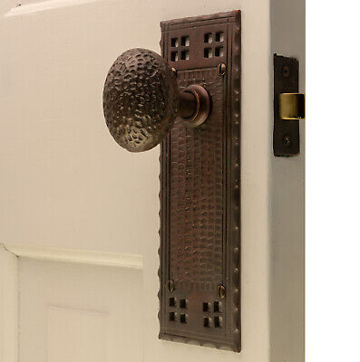 The Bungalow Passage Set in Bronze Finish with Arts and Crafts Door Knobs