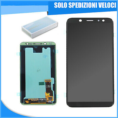 Display Lcd Samsung Originale + Touch Screen Galaxy A6 2018 Sm-A600F Nero Black