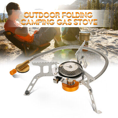 Astonishing Outdoor Portable Gas Stove Burner Cooking Hiking Camping Cooker W Piezo Us D6X6 Interior Design Ideas Clesiryabchikinfo