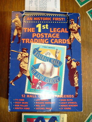 New Box of 24 Packs 12 Baseball Cards Ea Hall of Fame Heroes 288 Mint Cards 1992