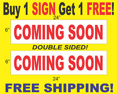 "/_/_/_ ACRES 6/""x24/"" REAL ESTATE RIDER SIGNS Buy 1 Get 1 FREE 2 Sided Plastic"