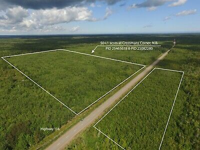50 Acres Recreation and Wood Land For Sale Bass River, New Brunswick, Canada