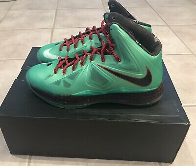 "new arrivals 3296a 9f6ce NEW Nike Lebron X (10) ""Cutting Jade"" Size 10.5 Men s Basketball Shoes"