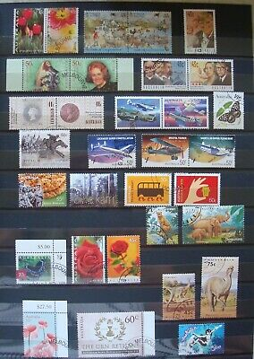 50 x Australian Mix of CTO Stamps - Full Gum - 2 Scans