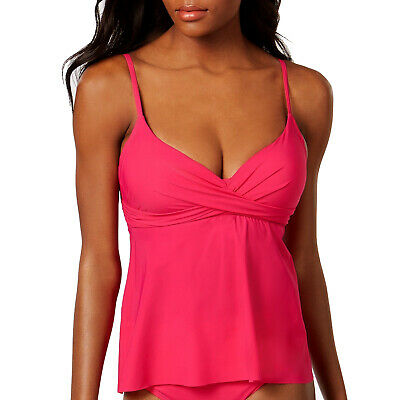 43d34ed86c524 Contours by Coco Reef Diamond Wrap Underwire Tankini Top 36D 12 Rosewood   90 NWT
