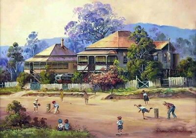 QUALITY CANVAS ART PRINT * Darcy Doyle * Afternoon Cricket
