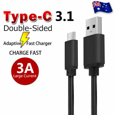 TYPE-C USB-C Data FAST CHARGING Charger Cable for Samsung S9 S8 Plus Note 9 8 AU