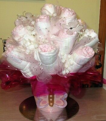 Nappy Cake - Floral Bouquet  - Baby Girl