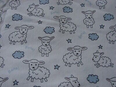 Flannelette White Fitted Lambs Cot Sheet Handmade