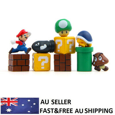 Super Mario Bros Game Action Figure Doll Toy Kids Xmas Gift Cake Toppers 10PCS