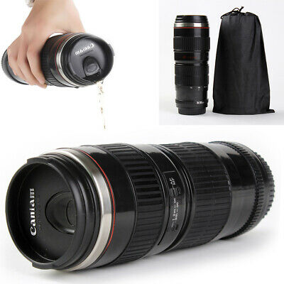 70-200mm Camera Lens Coffee Mug Photo Coffee Cup Stainless Steel Travel Thermos