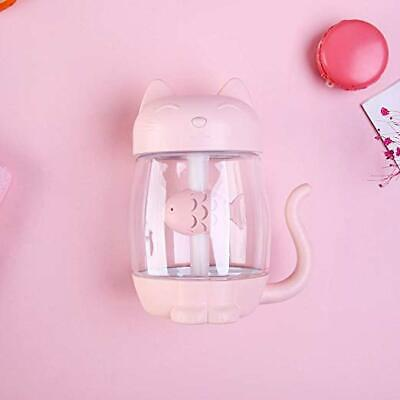 Pink Cat Paw 3 in 1 350mL Air Humidifier Night light Mini Night Lamp For Bedroom