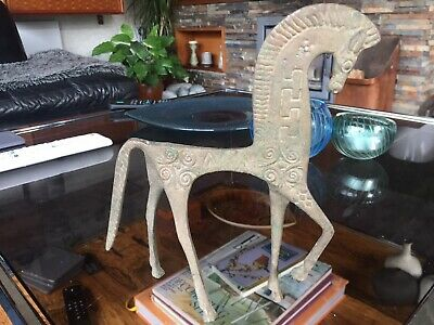 Stunning Large Vintage Modernist Frederick Weinberg Style Etruscan Horse