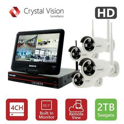 Crystal Vision 4-Channel True HD 2TB HDD Wireless CCTV