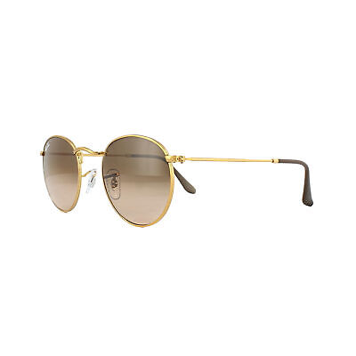 77ea9cf475 Ray-Ban Sunglasses Round Metal 3447 9001A5 Bronze Copper Pink Brown Gradient  S