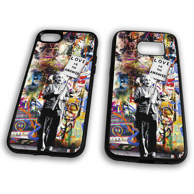 Love is the Answear Albert Einstein Banksy Graffiti Colours Phone Case Cover