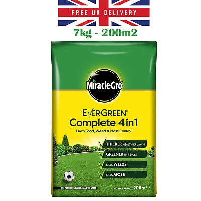 EverGreen Complete 4in1 Lawn Care Bag Kills Weeds Moss Feeds Control Grass 7 KG