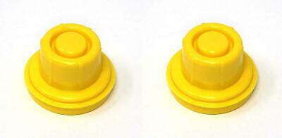 2 PK JSP Replacement Yellow Gas Can Spout Cap Top For Blitz 900094 900092 900302