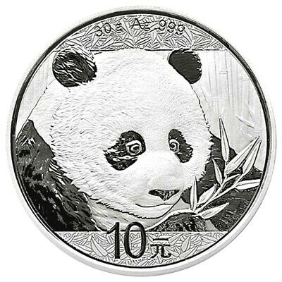 2018 Chinese Silver Panda Coin 30 Gram 10 China Yuan - Panda Eating Bamboo