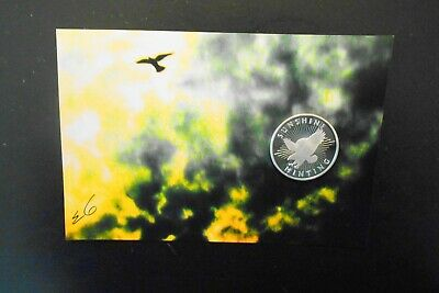 "1/2 troy oz .999 fine silver round Sunshine mint eagle & elo signed print 4""x6"""