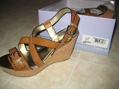 a17ab634ab1 MARC FISHER WOMENS Size 8 M Wedge Sandals Brown New in Box -  40.00 ...